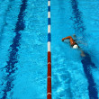 Stock Photo: Pool lane vertical
