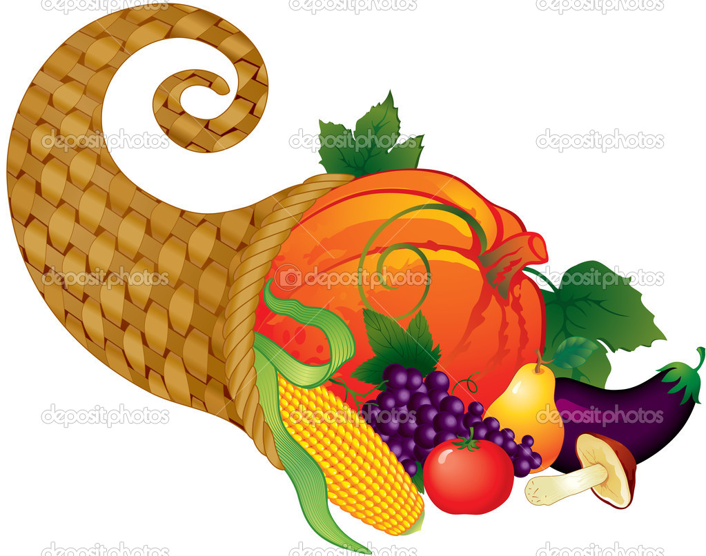 Horn of plenty, symbol of thanksgiving day — Stock Vector #2891635
