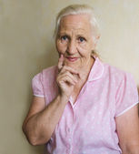 Portrait of elderly woman — Stock Photo