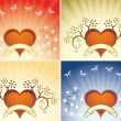 Valentine background with heart — Vector de stock