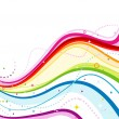 Abstracte Rainbow Wave — Stockvector