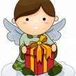 Stock Vector: Christmas Angel