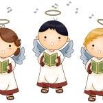 Angels singing — Stock Vector