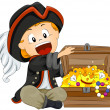 Stock Vector: Boy Pirate