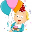 Birthday Baby — Stock Vector