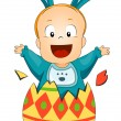 Stock Vector: Easter Baby