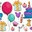Birthday Icons - Grafika wektorowa