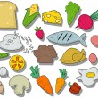 Food Icons — Stockvectorbeeld