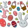 Stock Vector: Easter Icons