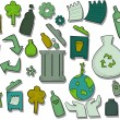 Recycle Icons - Grafika wektorowa