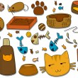 Cat Icons — Stock Vector