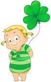 St Patrick Costume — Vector de stock