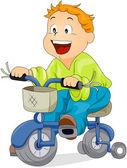 Garçon à vélo — Vecteur