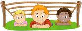 Children Crawling — Stock vektor