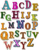 L'alfabeto — Vettoriale Stock