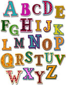 O alfabeto — Vetorial Stock