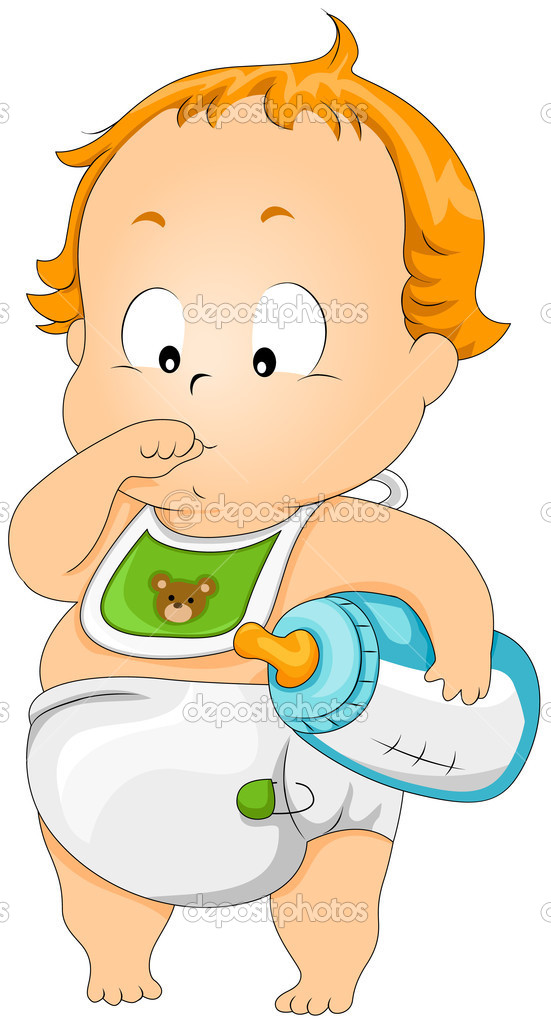 Baby Thumb Sucking with Clipping Path — Stock Vector #2755151
