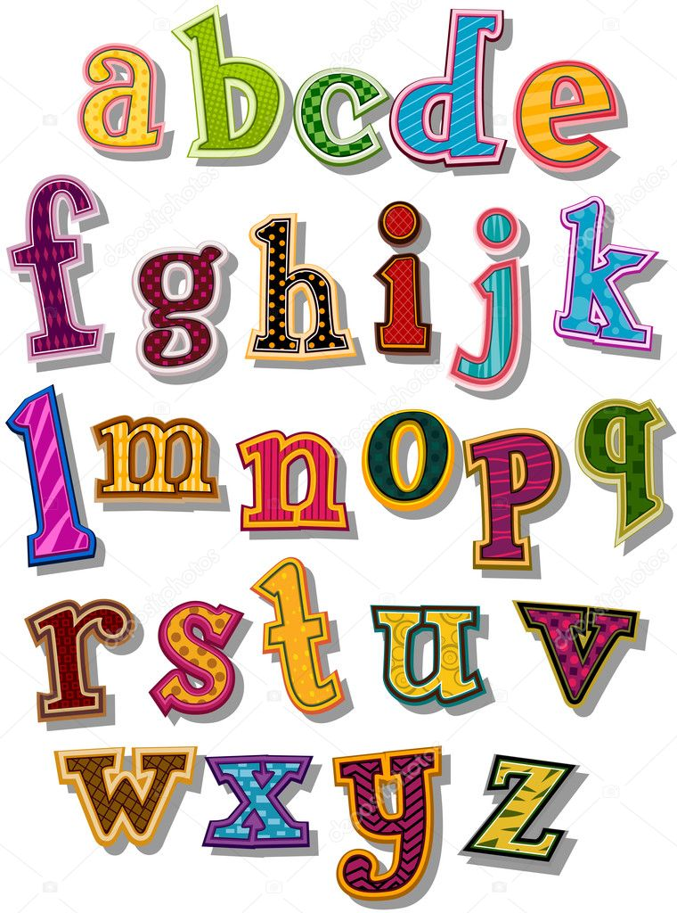 The Alphabet in small letters with Clipping Path — Stok Vektör #2755167
