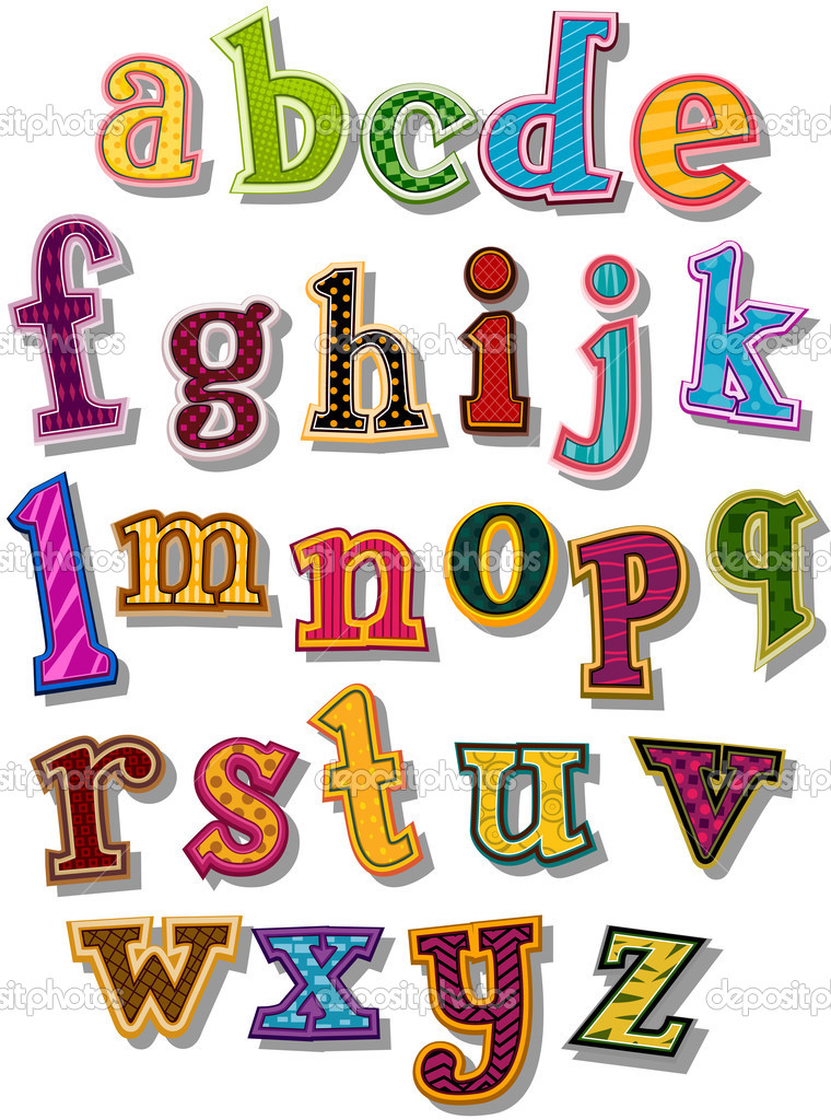 The Alphabet in small letters with Clipping Path  Stockvectorbeeld #2755167