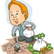 Royalty-Free Stock Vector Image: Burying / Planting Money