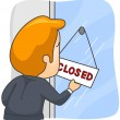 Closed - Stock Vector