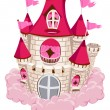 Pink Castle - Stock Vector