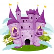 Purple Castle — Stockvectorbeeld