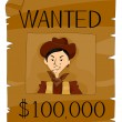 Stock Vector: Wanted Poster