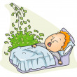 Making Money while Sleeping — Stock Vector