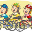 Stock Vector: Cyclists