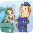 Stock Vector: Traffic Violation