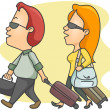 Royalty-Free Stock Imagen vectorial: Travelers