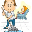 Stock Vector: Mmopping Floor