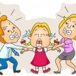 Stock Vector: Parents Fight