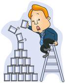 Pyramid Cans — Stock Vector