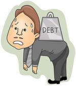 Debt — Vettoriale Stock