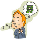 I smell Money — Stock Vector