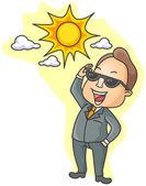 Business Sunshine — Stock Vector