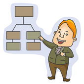 Organizational Chart — Stock Vector