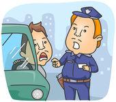 Traffic Violation — Stock Vector