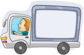 Driving Truck — Stock Vector