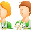 Pet Groomer Avatars - Stock Vector