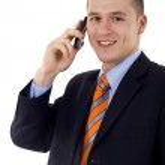 hablando por teléfono — Foto de Stock   #3080189