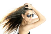 Woman with sunglasses — Stock Photo