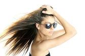 žena s sluneční brýle — Stock fotografie