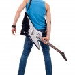 Back of a guitarist — Stock Photo