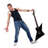 Guitarra de exploração a pé — Foto Stock