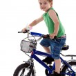 Boy riding a bike — Stock Photo #3502383