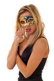 Woman with carnival venice mask — Stock Photo