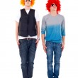 Two casual men standing serious — Stock Photo #3656696